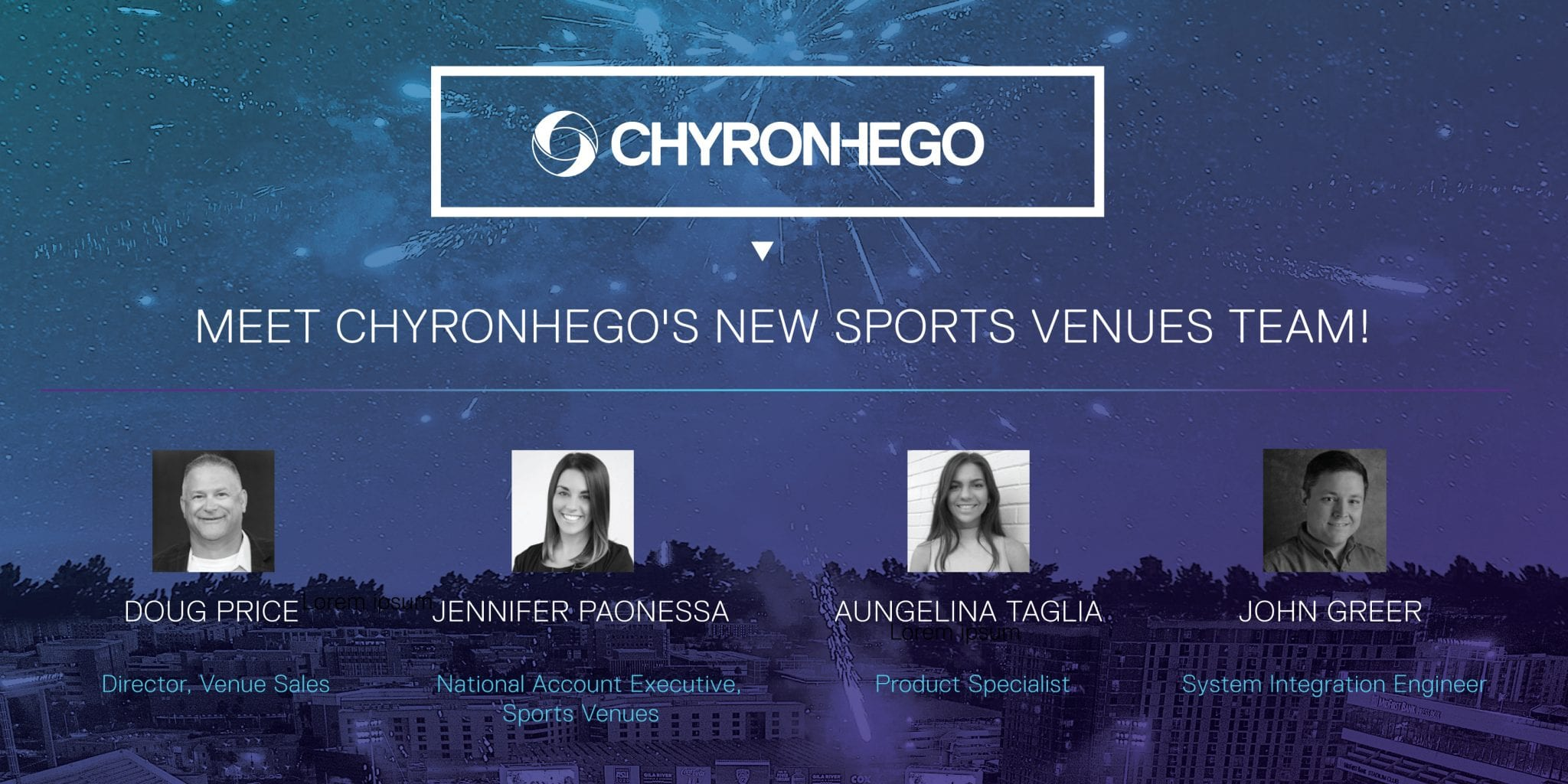 Meet Chyronhego's new sports venues team!